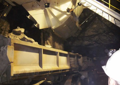 Bunker Chute loading out ore