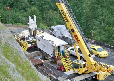 RBM7-SP-LH Drilling a 16 Foot Diameter Shaft in Central West Virginia