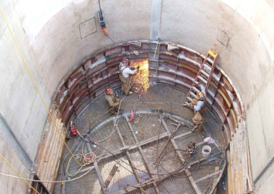 Elliptical shaft construction