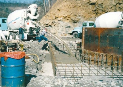Pouring concrete for shaft collar