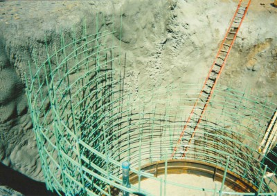 Rebar in shaft collar