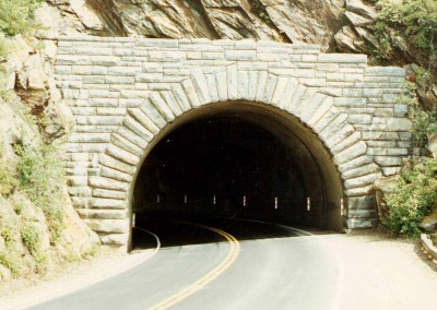 Completed Highway Tunnel on the Blue Ridge Parkway