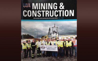 Cowin/Raisebor featured in Mining & Construction magazine